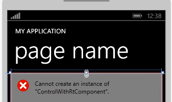 "Cannot create an instance of ""ControlWithRtComponent"""